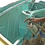 painting engine bay